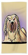 Kiniart Lhasa Apso Braided Hand Towel