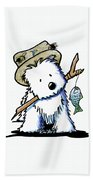 Kiniart Westie Fisherman Bath Towel