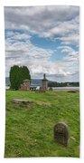 Kinross Cemetery On Loch Leven Bath Towel