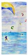Kite Surfer Bath Towel
