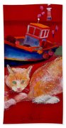 Kittens On The Beach Bath Towel