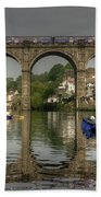 Knaresborough Viaduct Bath Towel