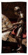 Knight And Horse In Armor Bath Towel