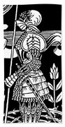 Knight Of Arthur, Preparing To Go Into Battle Bath Towel