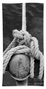 Knot On My Warf Iv Hand Towel by Stephen Mitchell