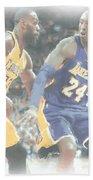 Kobe Bryant Lebron James 2 Bath Towel