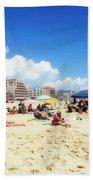 Blue Sky Day In Ocean City Bath Towel
