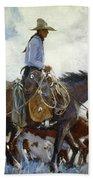 Koerner: Cowboy, 1920 Bath Towel