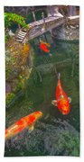 Koi Pond  Bath Towel