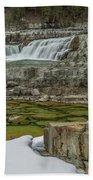 Kootenai Falls In Winter Bath Towel