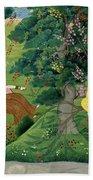 Krishna Fluting The The Milkmaids Bath Towel