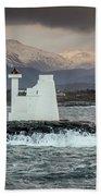 Kvitholmen Lighthouse Bath Towel