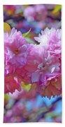 Kwanzan Cherry Blossoms Bath Towel
