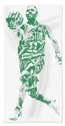 Kyrie Irving Boston Celtics Pixel Art 43 Bath Towel