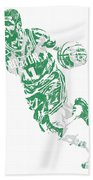 Kyrie Irving Boston Celtics Pixel Art 9 Bath Towel
