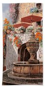 la fontana a St Paul de Vence Hand Towel