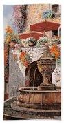 la fontana a St Paul de Vence Bath Towel