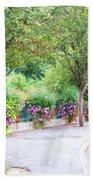 La Gacilly, Morbihan, Brittany, France, Streetscape Bath Towel