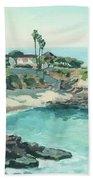 La Jolla Cove In December, La Jolla, San Diego, California Bath Towel