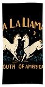 La La Llamas Bath Towel