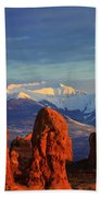 La Sal Mountains In Arches Np Utah Bath Towel