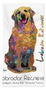 Labrador Retriever Pop Art Hand Towel