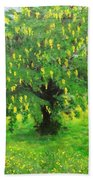 Laburnum Tree In Splendid Isolation Bath Towel