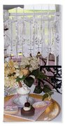 Lacey Curtain And Pastry Bath Towel