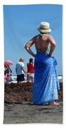Lady In Blue Bath Towel