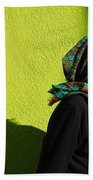 Lady In Green Hand Towel