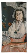 Lady With Her Pets. Molly Wales Fobes Bath Towel