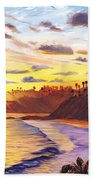 Laguna Village Sunset Bath Towel