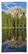 Lake Antorno Hand Towel by Yair Karelic