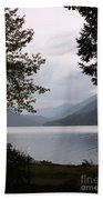 Lake Crescent Through The Trees Bath Towel