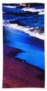 Lake Erie Shore Abstract Bath Towel