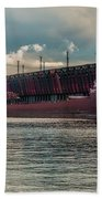 Lake Freighter - Honorable James L Oberstar Bath Towel