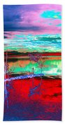 Lake In Red Bath Towel
