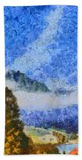 Lake In The Middle Of Swiss Beauty Bath Towel