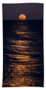 Lake Michigan Moonrise Bath Towel