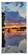 Lake Murray Sc Reflections Bath Towel