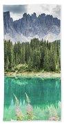 Lake Of Carezza - Italy Bath Towel