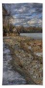 Lake Pend D'oreille At Humbird Ruins Bath Towel