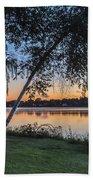Lake Quannapowitt At Sunset Bath Towel