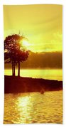Lake Sunrise Bath Towel