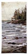 Lake Superior Waves Bath Towel