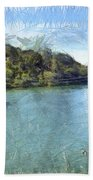 Lake With Islands Bath Towel