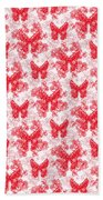 Lalabutterfly Red And White Bath Towel