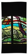 Lamb Stained Glass Window Bath Towel
