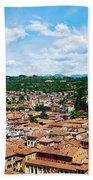 Lamberti Tower View Of Verona Italy Bath Towel