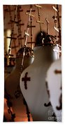 Lamps Inside The Church Of The Holy Sepulchre, Jerusalem Bath Towel